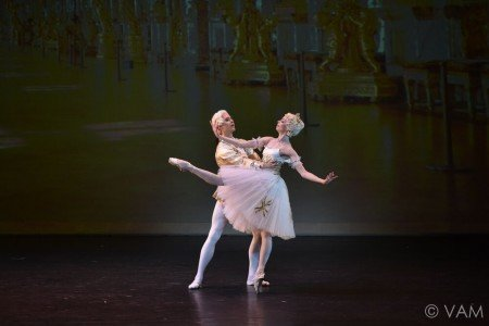 "Ekaterina Krysanova and Artem Ovcharenko of the Bolshoi Ballet in the Pas de Deux from ""Marco Spada"" Photo Siggul/VAM"