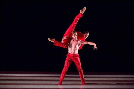 "Aspen Santa Fe Ballet Samantha Campanile and Lukasz Zieba in Cayetano Soto's ""Huma Rojo"" Photo Jordan Curet"