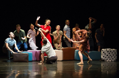 "Ballet Hispanico dancers in Gustavo Ramirez Sansano's ""Flabbergast"" Photo Paulo Lobo"