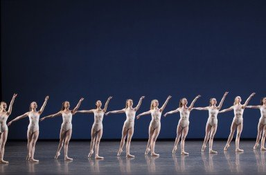 "New York City Ballet in George Balanchine's ""Symphony in Three Movements"" Photo Paul Kolnik"