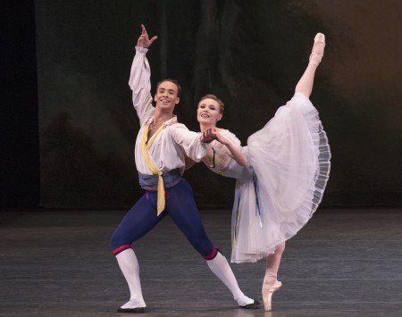 "Sara Mearns and Tyler Angle in ""Bournonville Divertissements"" photo credit: Paul Kolnik"