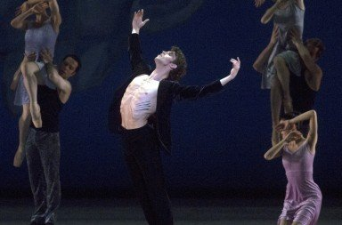 "James Whiteside and  Dancers of American Ballet Theatre in Alexei Ratmansky's ""Chamber Symphony""    Photo Rosalie O'Connor"