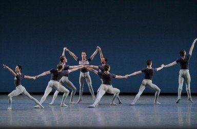 "New York City Ballet in ""Kammermusik No. 2"" Photo Paul Kolnik"