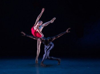 "Christine Shevchenko and Calvin Royal III of American Ballet Theatre in Alexei Ratmansky's ""Piano Concerto #1"" Photo Rosalie O'Connor"