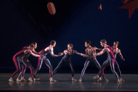 "Daniil Simkin and Dancers of American Ballet Theatre in Alexei Ratmansky's ""Piano Concerto #1"" Photo Rosalie O'Connor"