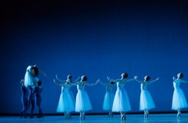 "Artists of Pennsylvania Ballet in George Balanchine's ""Serenade"" Photo Alexander Iziliaev"