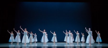 "Artists of Pennsylvania Ballet in George Balanchine's ""Serenade"" Photo: Alexander Iziliaev"