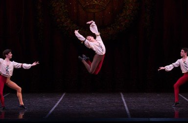 "Peter Mazurowski, Noah-Parets, and Santiago Paniagua in ""The Sleeping Beauty""     Photo Rosalie O'Connor"