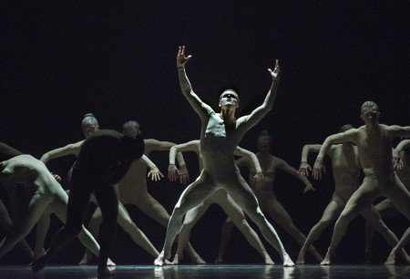 "Scott Fowler and members of Ballet BC in Sharon Eyal's ""Bill"" Photo Chris Randle"