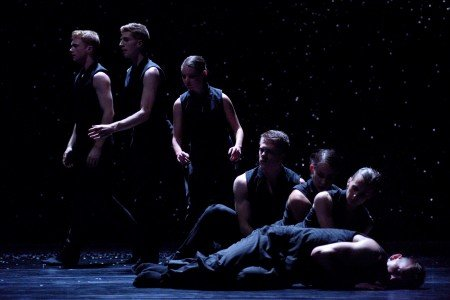 "Members of Ballet BC in Chrystal Pite's ""Solo Echo"" Photo Michael Slobodian"