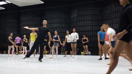 George Birkadze, center, with Ballet Philippines dancers Photo Courtesy of George Birkadze