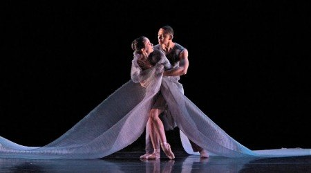 "Laura Mead and Clifton Brown of Jessica Lang Dance in ""Among The Stars"" Photo Todd Burnsed"
