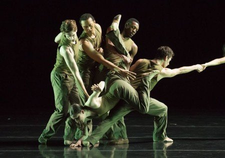 "Members of Jessica Lang Dance in ""Thousand Yard Stare"" Photo Todd Rosenberg"
