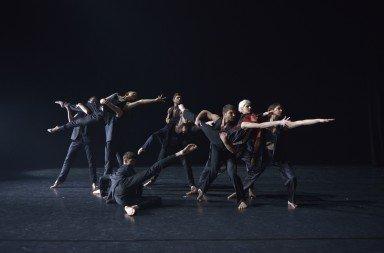 "Dancers of Les Ballets Jazz de Montréal in Andonis Foniadakis's ""Kosmos""     Photo Raphaelle Bob Garcia"