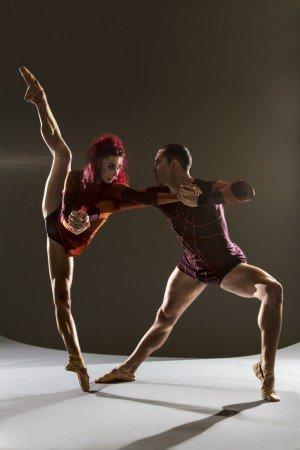"Céline Cassone and Mark Francis Caserta of Les Ballets Jazz de Montréal in Itzik Galili's ""Mono Lisa"" Photo Alan Kohl"