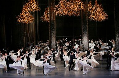 "New York City Ballet in George Balanchine's ""Vienna Waltzes""       Photo Paul Kolnik"