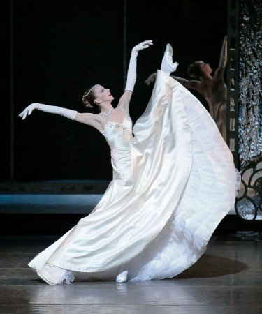 "Maria Kowroski of New York City Ballet in George Balanchine's ""Vienna Waltzes"" Photo Paul Kolnik"