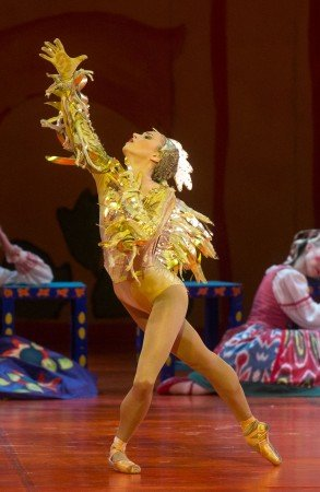 "Skylar Brandt  of American Ballet Theatre  in Alexei Ratmansky's  ""The Golden Cockerel"" Photo Rosalie O'Connor"