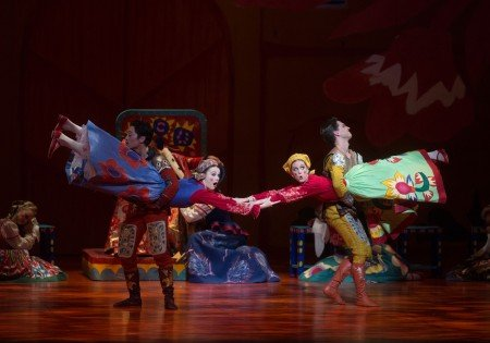 "Jeffrey Cirio, Stephanie Williams, Gemma Bond, and Joseph Gorak of American Ballet Theatre in Alexei Ratmansky's ""The Golden Cockerel"" Photo Rosalie O'Connor"