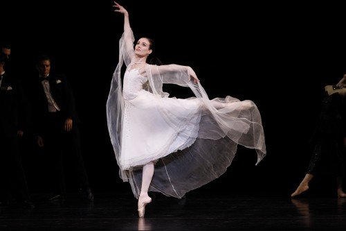 "Amber Scott in Graeme Murphy's ""Swan Lake"" Photo Jeff Busby"