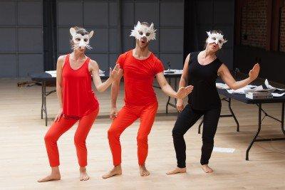 Tara McArthur, James Graham and Jenny Stulberg in Hope Mohr Dance's Manifesting Photo Margo Moritz