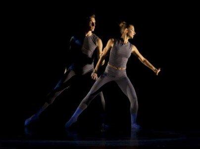 "L.A. Dance Project dancers Nathan Makolandra and Rachelle Rafailedes in Justin Peck's ""Helix"" Photo Rose Eichenbaum"