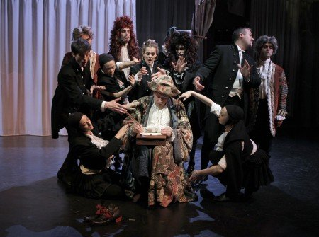 "Pascal Reneric and members of the cast of the Theatre des Bouffes du nord production of Moliere's ""Le Bourgeois Gentilhomme"" directed by Denis Podalydes Photo Pascal Victor/ArtComArt"