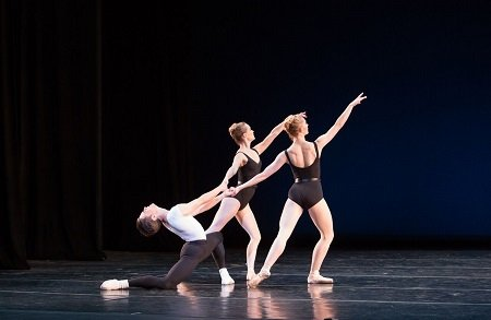 Artists of Pennsylvania Ballet In George Balanchine's The Four Temperaments Photo: Alexander Iziliaev