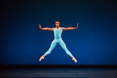Pennsylvania Ballet Principal Dancer Jermel Johnson In Jean-Pierre Frohlich's Varied Trio (in four) Photo: Alexander Iziliaev