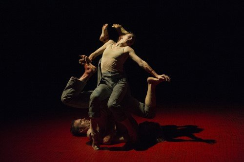 "Natalia Osipova, Jason Kittelberger and James O'Hara in ""Qutb"" Photo Alastair Muir"