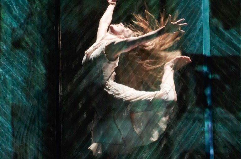 "Sara Elizabeth Seger of RIOULT Dance NY  in ""Cassandra's Curse""       Photo Eric Bandiero"