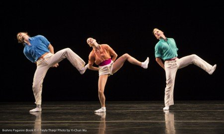"Nicholas Coppula, Amy Ruggiero, and Daniel Baker in ""Brahms Paganini"" by Twyla Tharp Photo Yi-Chun Wu"