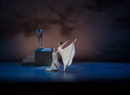 "Piotr Stanczyk and Hannah Fischer in Christopher Wheeldon's ""The Winter's Tale"" Photo Rosalie O'Connor"