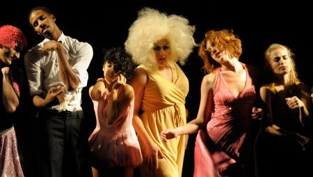 """Dancers from the Rosie Herrera Dance Theater in """"Various Stages of Drowning: A Cabaret"""" Photo Sara D. Davis"""
