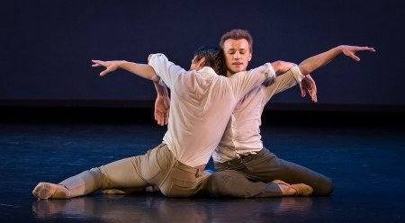 "Marcelo Gomes and Denis Matvienko in Marcelo Gomes's ""Tristesse"" Photo Michael Khoury"