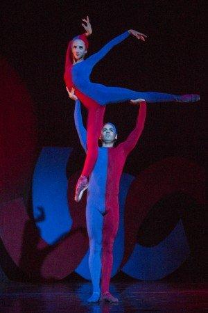 "Sarasota Ballet's Ellen Overstreet and Edward Gonzalez in Sir Frederick Ashton's ""Jazz Calendar | Friday's Child"" Photo Yi-Chun Wu"