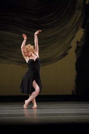 "Lauren Grant of the Mark Morris Dance Group  in ""Eleven"" from Mark Morris's  ""Mozart Dances""  Photo Stephanie Berger"
