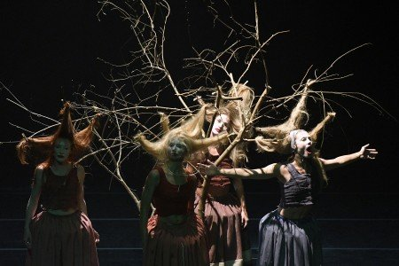 "Provincial Dances Theater dancers in Tatiana Baganova's ""Maple Garden"" Photo Grant Halverson"