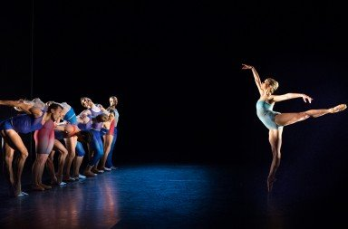 "BalletX dancers in ""Show Me"" by Matthew Neenan       Photo Alexander Iziliaev."