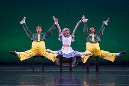 "Sarasota Ballet's Alex Harrison, Samantha Benoit, and Logan Learned in Sir Frederick Ashton's ""Tweedledum and Tweedledee"" Photo Yi-Chun Wu"
