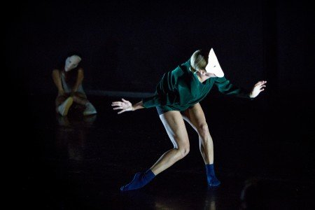 "Whim W'Him dancer Tory Peil in ""SARO"" choreographed by Joseph Hernandez Photo Bamberg Fine Art"