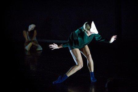 "Whim W'Him dancer Tory Peil in ""SARO"" choreographed by Joseph Hernandez Photo Bamberg Fine Art"