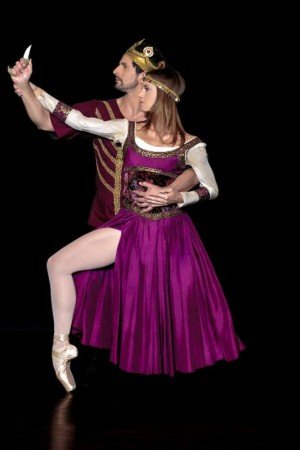 "Mary Beth Hansohn and Martin Harvey of Dances Patrelle in Francis Patrelle's ""Macbeth"" Photo Christopher Gagliardi"