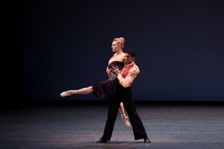 "New York City Ballet dancers Sara Mearns and Amar Ramasar in Justin Peck's ""The Dreamers"" Photo Paul Kolnik"