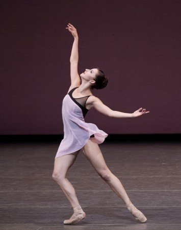 "New York City Ballet dancer Indiana Woodward in Lauren Lovette's ""For Clara"" Photo Paul Kolnik"