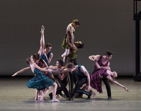 "New York City Ballet dancers in Peter Walker's ""ten in seven"" Photo Paul Kolnik"