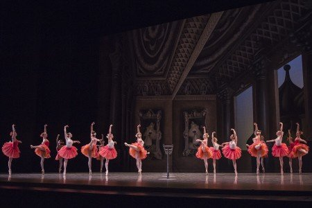 "Pacific Northwest Ballet School students in Christopher Wheeldon's ""Scènes de Ballet"" performed during the 35th Annual School Performance Photo Lindsay Thomas."