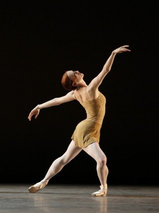 "Gillian Murphy of American Ballet Theatre  in Twyla Tharp's  ""The Brahms-Haydn Variations""  Photo Marty Sohl."