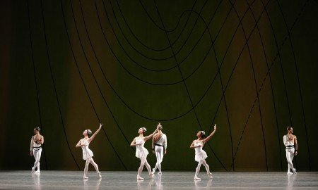 "Members of American Ballet Theatre in Sir Frederick Ashton's ""Symphonic Variations"" Photo Marty Sohl"
