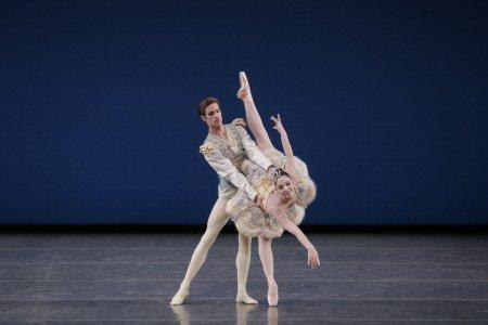 "New York City Ballet dancers Ana Sophia Scheller and Andrew Veyette in George Balanchine's ""Divertimento No. 15"" Photo Paul Kolnik"